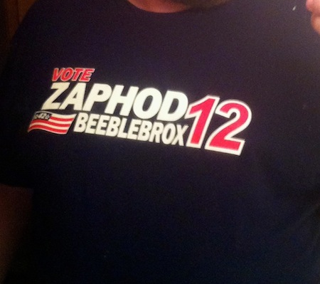 Vote Zaphod Beeblebrox 2012 T-Shirt Design