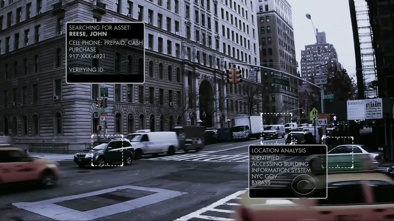 Shot of The Machine's data overlaid on a traffic cam