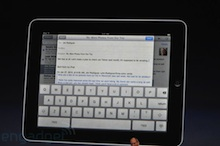 Apple iPad Email Compose